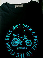 Bicycle t-shirt Black Medium bike Giordano brandnew with tag
