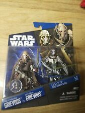 2010 STAR WARS LEGACY OF THE DARK SIDE EXCLUSIVE - PRE-CYBORG & GENERAL GRIEVOUS