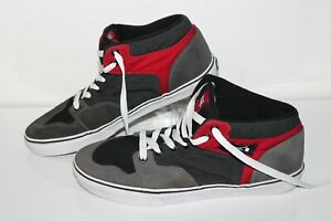 Vans Casual Sneakers, #TC62, Gray/Red, Leather, Men's US Size 11