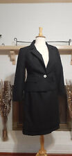 GIORGIO SANT' ANGELO Black Textured 2-Piece Pleated Skirt Suit-Size 14W