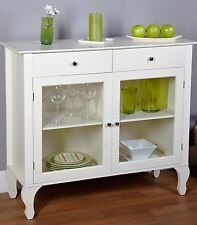 Buffet Server Cabinet Table Kitchen Dish Tables Sideboard Hutch Storage White