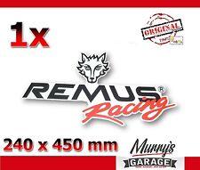2. WAHL Remus 385x600mm Aufkleber, Sticker, Autocollant, Étiquette Sportauspuff