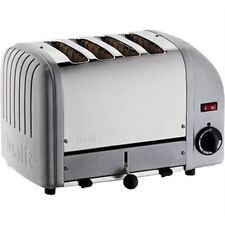 Dualit 4 Slice Vario Toaster Metallic Silver 40349 Stainless Steel Aluminium