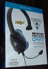 Turtle Beach Recon Chat Headset Black / Blue - PS4 / PS4 Pro and Xbox One + More