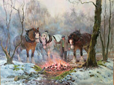 Heavy Horses Christmas Cards pack of 10 by R S Welch. C542X