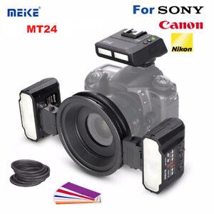 Meike MK-MT24 Macro Twin Flash Dual Flash Speedlite For Sony Nikon Canon DSLR