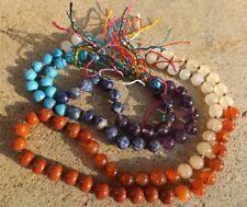 Chakra gemstone japa mala beads 108 beads~meditation,prayer,chakra healing 7:7