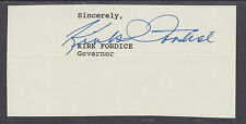 Kirk Fordice, Mississippi Governor 1992-2000, clipped signature from letter