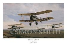 DAWN PATROL BY SIMON SMITH SE5A, 56 SQUADRON WW1 FIGHTER ACES PRINT LTD EDITION