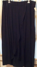 Size-Large-Black-Maternity-Maxi-Skirt-Knit-Ankle-Length-Layered-Look-Liz-Lange