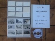 196 Malta photographs. World War 2 photographs on CD Army, RAF and Navy