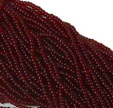 Transparent Garnet Czech 11/0 Glass Seed Beads 1 (6 String Hank) Preciosa