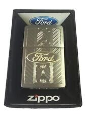 Zippo Custom Lighter Ford Motors Car Oval Name Laser Engraved Brushed Chrome New