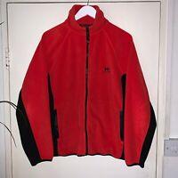 Helly Hansen Zip Closure Original Vintage Red Warm Fleece Jacket UK Size 14/16