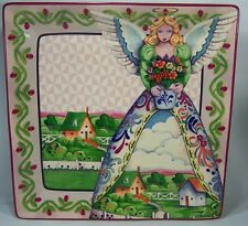"Jim Shore 4 Seasons Angels 13"" Square Platter, Certified International"