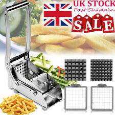 Stainless Steel Potato French Fries Chip Cutter Slicer Chipper with 2 Blades