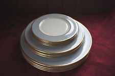 CAROLE STUPELL DINNERWARE: LOT OF 12 PLATES: 3 DIFFERENT SIZES