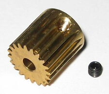 """Brass 20 Tooth Gear for 3.17 mm Shafts - 20T - 3.17mm - .125"""" Pinion Gear"""