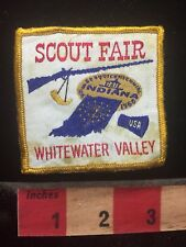Vtg 1966 Whitewater Valley Scout Fair Boy Scout Patch BSA - Rifle Gun 70K8