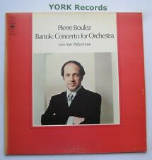 73161 - BARTOK - Concerto For Orchestra BOULEZ New York Phil Orch - Ex LP Record