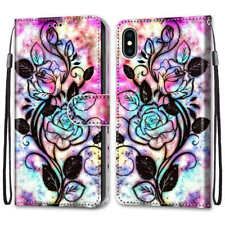 For Samsung A10s A20s A20 A30 A50 A70 A90 Painted Leather Flip Wallet Case Cover