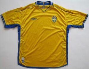 Sweden Euro 2004 2005 Umbro shirt jersey camiseta maglia Sverige XL