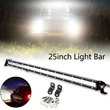 25Inch 72W LED Work Light Bar Slim Single Row Flood Offroad Driving Lamp SUV ATV