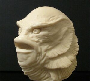 """CREATURE FROM THE BLACK LAGOON 1/6 RESIN HEAD UNPAINTED 2 1/4"""" tall x 2"""" wide"""