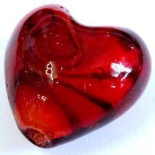 4 Pieces Lampwork Heart Glass Beads - 20mm - A4189