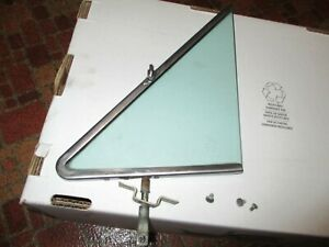 1963 1964 Ford Galaxie Left Vent Tinted Window Original Carlite Glass & Frame