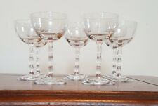 Set of 8 Vintage Small Wine Glasses Etched