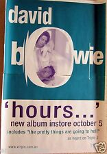 "DAVID BOWIE ""HOURS-NEW ALBUM INSTORE OCT 5"" GIANT SUBWAY AUSTRALIAN PROMO POSTER"