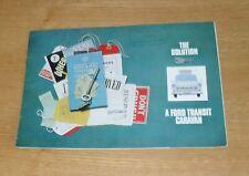 Ford Transit Mk1 Motorcaravan Brochure 1966-1967 Canterbury Dormobile Freedom