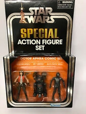 Star Wars SDCC 2018 Vintage Collection Dr Aphra, 000 & BT-1 NEW