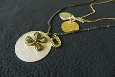 BETSEY JOHNSON VINTAGE Lucky Charm Layer Pendant Necklace