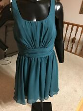 Allure Bridals bridesmaid dress inch strap knee length size 16 Pine style 1256