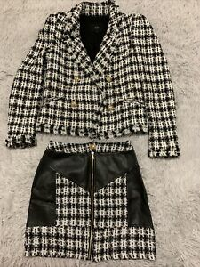 STUNNING RIVER ISLAND Skirt (size6) & Blazer (size 8) Set ONLY WORN ONCE