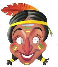 Maschera di CARNEVALE  (  B 04 )  anni '60  -  INDIANO