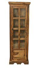 Jali Solid Sheesham Indian Rosewood Slim Vitrine/ Display Cabinet Assembled