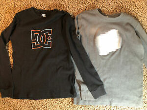 DC Shoes Boomer 2Fer Crew Neck Long Sleeve T-Shirt ADBKT00105 Boys Sizes NWT