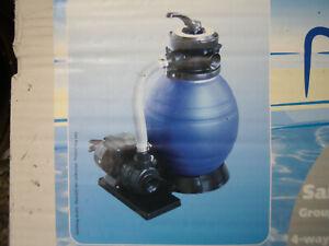 4-Wege Swimmingpoolfilter Sandfilter Filteranlage Filterpumpe mit Partikelfilter