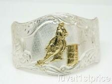 rodeo MONTANA SILVERSMITHS Silverplate Rodeo BARREL RACER Etched Cuff Bracelet