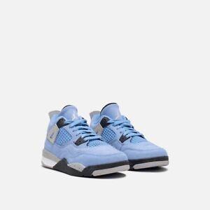 Nike Air Jordan 4 Retro University Blue (PS) BQ7669-400 Size 2Y - NEW
