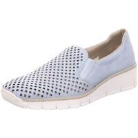 Rieker Antistress Damen Schuhe Halbschuh Slipper Ballerina 537A6-10 blau