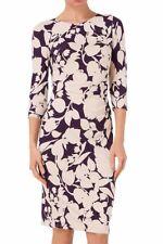 BNWT Phase Eight Albertina Jersey Stretch Dress Size 14 Grape/Cream