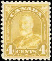 1930 Mint Canada F-VF Scott #168 4c F-VF KGV ArchLeaf Stamp Hinged