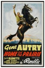 "GENE AUTRY HOME ON THE PRAIRIE -  VINTAGE WESTERN MOVIE POSTER 12"" X 18"""