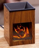 Fireplace Tart Wax Warmer 1-Pc Hot Candle Melt Holder Fragrance Essential Oil