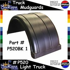 LIGHT TRUCK MUDGUARD BLACK 520 WIDE DYNAPLAS TOW TILT SLIDE FLAT 4X4 TRAY FLARES