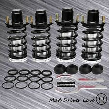 88-00 HONDA CIVIC CRX DEL SOL SUSPENSION COILOVER LOWER SPRINGS W/ TOP HAT BLACK
